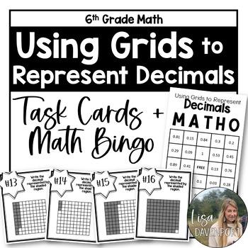 Represent Decimals Using Grids (TASK CARDS)