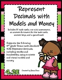 Represent Decimals with Models and Money (TEKS 4.2E) STAAR Practice