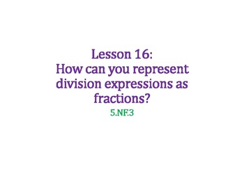 Represent Division Expressions as Fractions