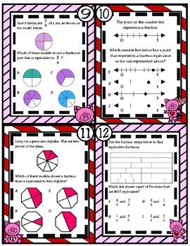 Represent Equivalent Fractions (TEKS 3.3F) STAAR Practice