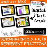 Represent Fractions TEKS 3.3A Boom Cards Bundle | 3rd Grad