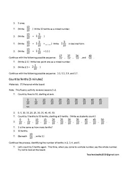 Represent Mixed Numbers on Number Line - Lesson Plan