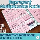 Represent Multiplication Facts Interactive Notebook & Quick Check TEKS 3.4E