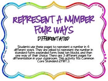 Represent Numbers 2.NBT.3
