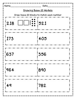 Represent Numbers to 1,000 with Base 10 Block Drawings