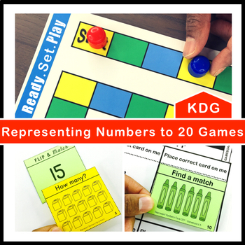 Represent Numbers to 20 Games and Centers Kindergarten