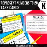 Represent Numbers to 20 - Kindergarten Math Tasks Cards