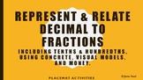 Represent & Relate Decimals to Fractions using Manipulativ