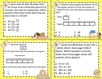 3.5B Represent/Solve Multi-Step Multiplication & Division Computation Task Card