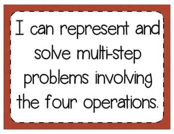 Represent & Solve Multi-Step Problems Interactive Notebook/Quick Check TEKS 5.4B