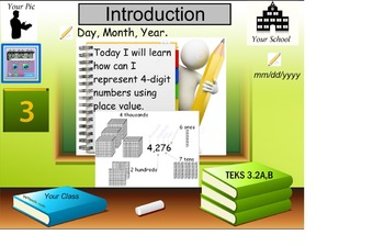 Represent a 4 digit number using place value