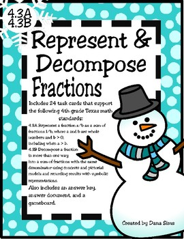 Represent and Decompose Fractions (TEKS 4.3A and 4.3B) STAAR Practice