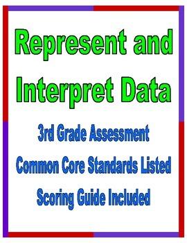 Represent and Interpret Data 3rd Grade Common Core Assessment
