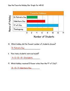 Represent and Interpret Data Test - Go Math 3rd Grade Chapter 2