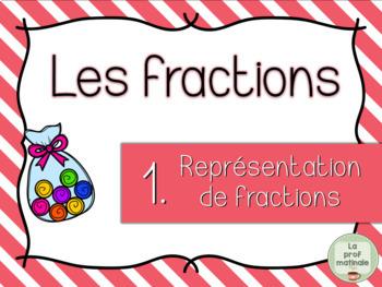Représentation de fractions - Cartes à tâches
