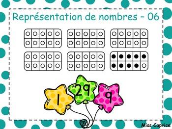 Représentation de nombres - 1 à 60 - 1re année
