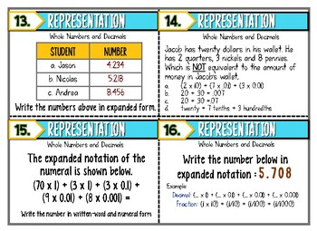 5.2A - Representation of Whole Numbers and Decimals