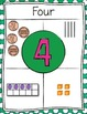 Representational Number Posters 0-30 Green-Dots
