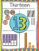 Representational Number Posters 0-30 Rainbow