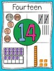Representational Number Posters 0-30 Turquoise Background