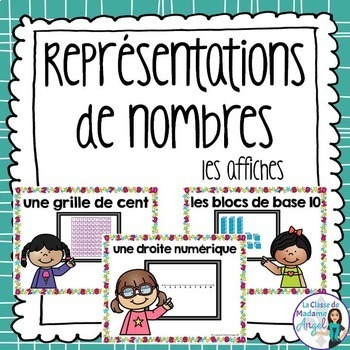 Représentations de nombres:  Representing Numbers Posters in French