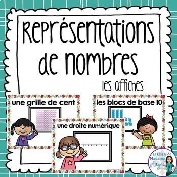 Représentations de nombres:  Representing Numbers Posters