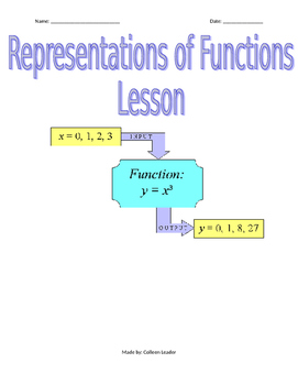 Representations of Fuctions Lesson