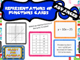 Representations of a Function Task Cards - Tables, Graphs,