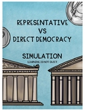 Representative or Direct Democracy Simulation (Plus Interactive Notebook Page)