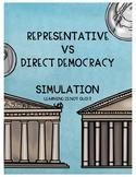 Representative or Direct Democracy Simulation (Plus Intera
