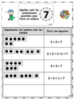 FREEBIE Représente le nombre - number sens (french)