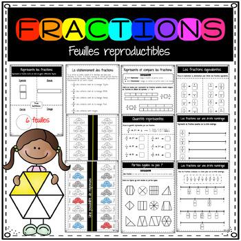 Représenter et comparer les fractions IMPRIMABLES / Fractions fluency