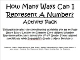 Representing 3-Digit Numbers Activity Pack; CCLS (EngageNY)