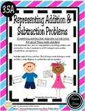 Representing Addition and Subtraction Problems (TEKS 3.5A)