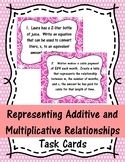 Representing Additive and Multiplicative Relationships Task Cards