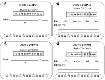 Representing Data - Dot Plot - Box Plot - Stem Leaf Plot - Histogram