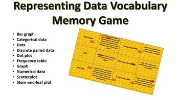Representing Data Vocabulary Memory Game