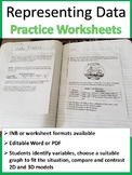 Representing Data Worksheet
