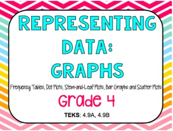 Representing Data in Graphs- Task Cards (GRADE 4 & 5)