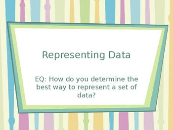 Representing Data power point