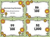 Representing Decimals - Fraction, Decimal, Word Form