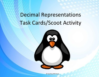 Representing Decimals Task Cards - Scoot