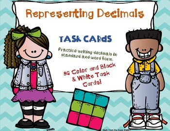 Representing Decimals Task Cards:  Standard and Word Form