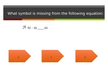 Representing Equations with a Relational Symbol Interactive PowerPoint 2.NBT.4
