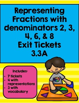 Representing Fraction W Denominators of 2, 3, 4, 6, 8 Exit Tickets 3.3A
