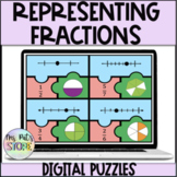 Representing Fractions Digital Puzzle- Microsoft Teams & GG
