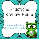 Representing Fractions I Have Who Has Fraction Game for 3rd Grade 3.NF.1