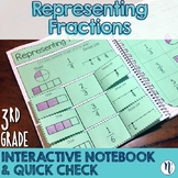 Representing Fractions Interactive Notebook Activity & Quick Check TEKS 3.3A
