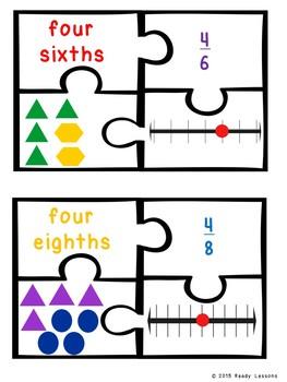 3rd Grade Fraction Game Puzzle Fraction on a Number Line 3rd Grade 3.NF.1 3.NF.2