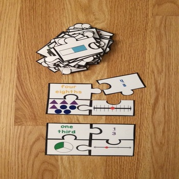 Fractions on a Number Line 3rd Grade Fraction Game Puzzles 3.NF.1 3.NF.2